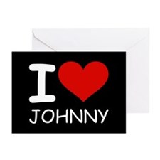 I LOVE JOHNNY Greeting Cards (Pk of 10)