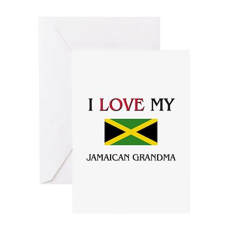 I Love My Jamaican Grandma Greeting Card