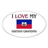 I Love My Haitian Grandma Oval Decal