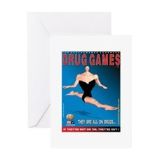 Gymnast Greeting Card