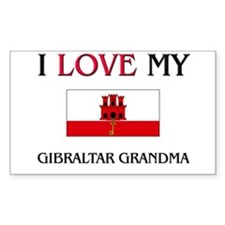 I Love My Gibraltar Grandma Rectangle Decal
