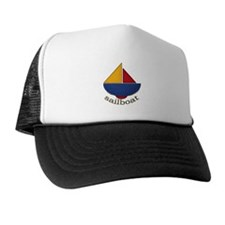 Cute Sailboat Design Trucker Hat