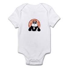 girl flower panda Infant Bodysuit
