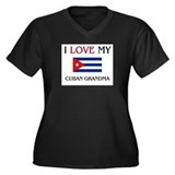 I Love My Cuban Grandma Women's Plus Size V-Neck D