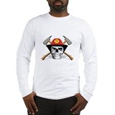 Fireman Skull Long Sleeve T-Shirt