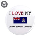 "I Love My Cayman Islander Grandma 3.5"" Button (10"