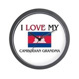 I Love My Cambodian Grandma Wall Clock