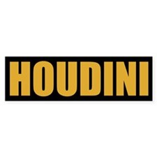 Houdini Bumper Sticker (Gold on Black)