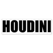 Houdini Bumper Sticker (Black On White)