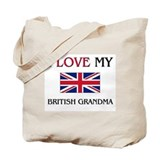 I Love My British Grandma Tote Bag
