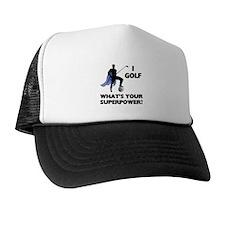 Golf Superhero Trucker Hat