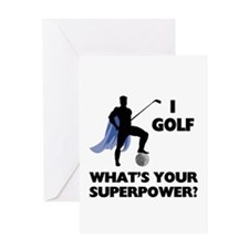 Golf Superhero Greeting Card