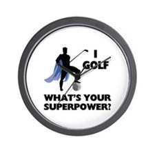 Golf Superhero Wall Clock