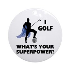 Golf Superhero Ornament (Round)