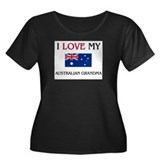I Love My Australian Grandma Women's Plus Size Sco