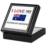 I Love My Australian Grandma Keepsake Box