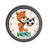 Soccer Teddy Wall Clock