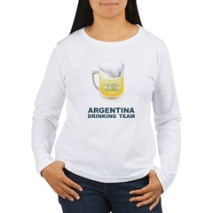 Argentina Drinking Team Women's Long Sleeve T-Shir