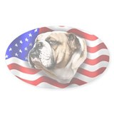 Bulldog Patriot Oval Decal