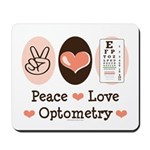 Peace Love Optometry Eye Chart Mousepad
