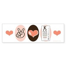 Peace Love Optometry Eye Chart Bumper Bumper Sticker