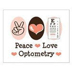 Peace Love Optometry Eye Chart Small Poster