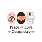 Peace Love Optometry Eye Chart Postcards 8 Pack