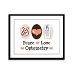 Peace Love Optometry Eye Chart Framed Panel Print