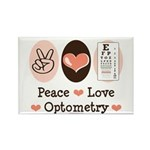 Peace Love Optometry Eye Chart Rectangle Magnet