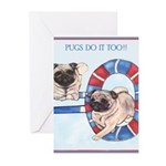Agility Chinese Pugs Greeting Cards (Pk of 20)