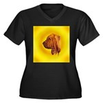 Beautiful Bloodhound Head stu Women's Plus Size V-
