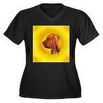 Beautiful Bloodhound Head stu Women's Plus Size V-