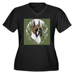 BOXERS Women's Plus Size V-Neck Dark T-Shirt