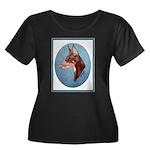 Red Doberman Pinscher Women's Plus Size Scoop Neck