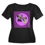 Border Terriers Women's Plus Size Scoop Neck Dark