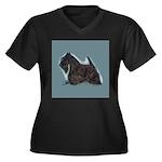 Scottish Terrier - Scotty Dog Women's Plus Size V-