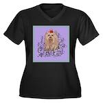 Yorkshire Terrier - YORKIE Women's Plus Size V-Nec