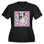 Powder Puff Chinese Crested Women's Plus Size V-Ne