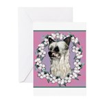 Powder Puff Chinese Crested Greeting Cards (Pk of