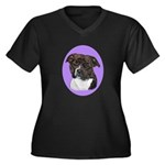American Staffordshire Women's Plus Size V-Neck Da