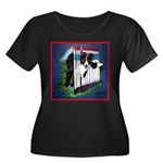 Agility Border Collie Women's Plus Size Scoop Neck