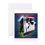 Agility Border Collie Greeting Cards (Pk of 20)