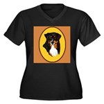 Australian Shepherd design Women's Plus Size V-Nec