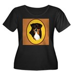 Australian Shepherd design Women's Plus Size Scoop