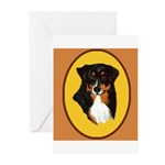 Australian Shepherd design Greeting Cards (Pk of 2