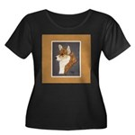 Corgi Head Study Women's Plus Size Scoop Neck Dark