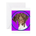 German Shorthair Pointer Head Greeting Cards (Pk o