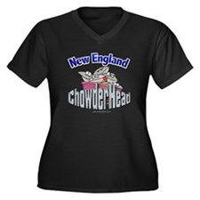 New England ChowderHead... Women's Plus Size V-Nec
