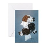 English Pointer Trio Greeting Cards (Pk of 10)