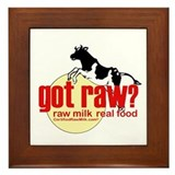 Raw Milk, Real Food Framed Tile